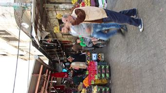 EMBARGO Video recording of street view in the old market of Gaza city