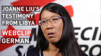 Joannes Liu's testimony from Libya | Webclip | German