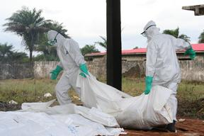 ELWA3 Ebola management centre in Monrovia, Liberia