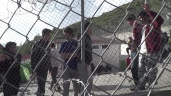 WEBCLIP: Angelique, MSF logistician, horrified by  detention of refugees on Samos, Greece (INT)