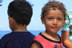 Refugee children of Kos