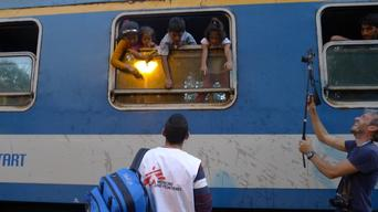 Hungary - refugee trains