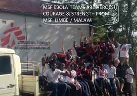 MSF team fighting against ebola in Limbe