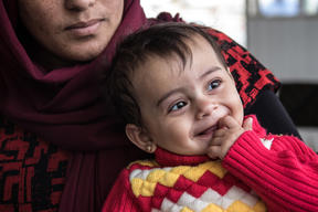 Nerow with her baby, Simav, at a MSF maternity clinic in Iraq