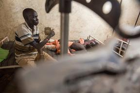 South Sudan, Leer, story of Kume Saadi Kuony, March 2015.