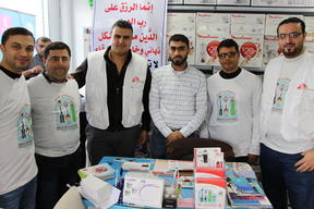 Burn awareness campaign with MSF staff in Gaza