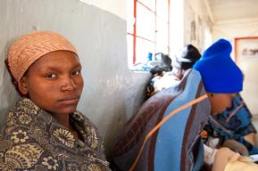 Mamotsieleli Molofotsane at MSF supported health center, Ha Seng, Lesotho
