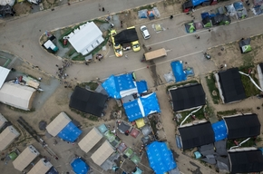 Aerial View of Refugee camp near Polykastro