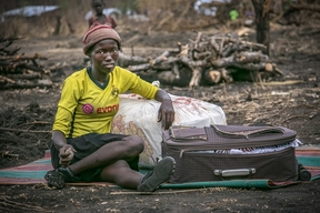 A refugee from South Sudan in Palorinya, Uganda