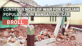 BROLL | Consequences of war for civilian population in Bangassou, CAR