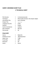 Sorry I Drowned | Technical Sheet
