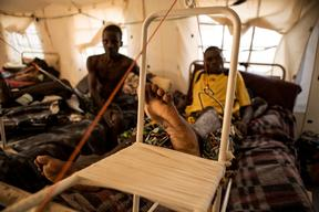CAR wounded in Hopital Communautaire, Bangui