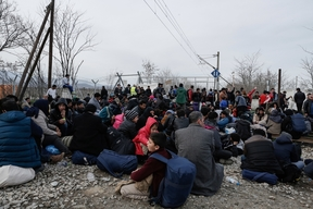 On the Greek / Macedonian Border at Idomeni