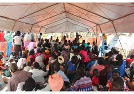 Dzaipi transit camp for South Sudanese refugees