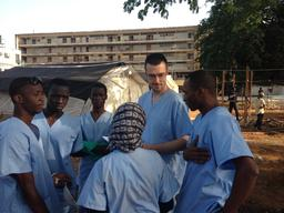 Ebola Treatment Center in Conakry, Guinea