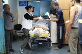 A night in Al Shifa Hospital, Gaza City