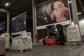 MSF Supply warehouse in Brussels, Belgium