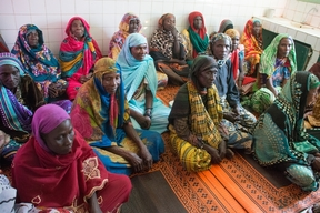 Meeting with traditional birth attendants in Mina health centre