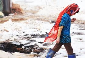 Harsh winter conditions for refugees in Lebanon