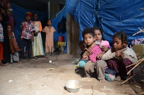 Internal displaced people in Al-Houban, Taiz, Yemen