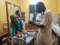 Activities in the hospital of Timbuktu.