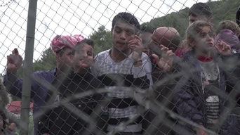 WEBCLIP: Saleh, young Syrian refugee held in detention centre on Samos, Greece (INT)