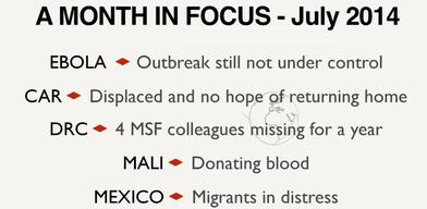 A Month in Focus - July 2014