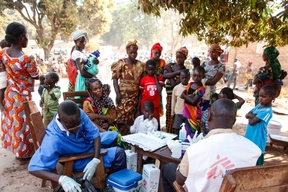 Internally displaced persones in Bria, Haute Kotto region, Central African Republic