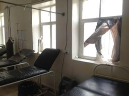 Haydan ER (MSF supported) airstrike damaged windows 23 July 2015