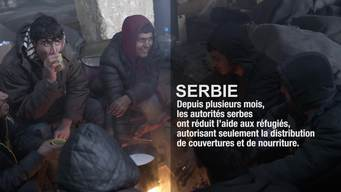 Serbia - Refugees trapped in Belgrade in 20°C below (FR)