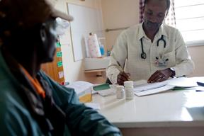 MSF's HIV clinic in Homa Bay District Hospital