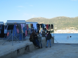 Refugee camp in Samos, Greece