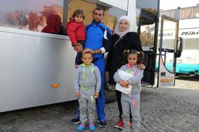 Syrian refugee family in Serbia