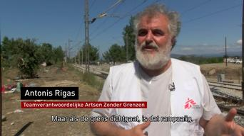 MSF sets up a transit camp in Idomeni NL