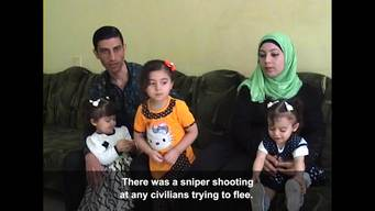 Escaped families West Mosul: Itw 4 Snipers shooting civilians (ENG)