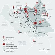 Map of MSF Projects in South Sudan