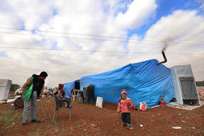 Idlib: Newly displaced persons.