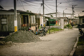 Street scene, 11 de Decembre district, near Tumaco