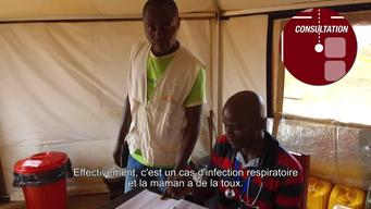 WALK & TALK: Clinique mobile MSF dans le camp de PK3 à Bria, RCA (FR)