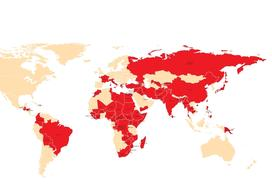 World Map with MSF missions 2011