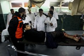 Shifa Hospital. In Gaza city