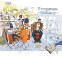 Hamid and Issa in Domiz by Olivier Kugler