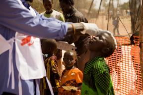 Measles vaccination campaign in Yida refugees camp