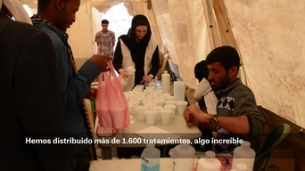 WEBCLIP - Mass treatment campaign for Scabies in Khamer, Yemen (ES)