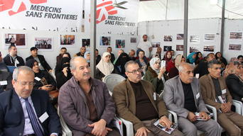 Burn awareness event in Gaza clinic on 24th of February 2018