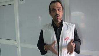 Arjan Hehenkamp, MSF General Director, interview in Yemen.