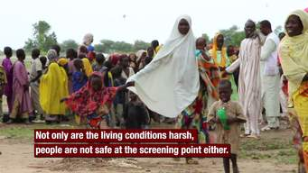 VIDEO: Interview with Anne-Cécile Niard on IDPs Stranded at Maiduguri Screening Point (ENG)