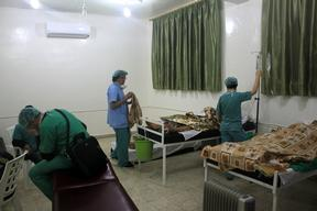 Syria: Azaz ciity airstrike patients