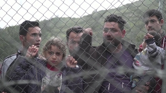WEBCLIP: Walid, refugee from Iraq, held in detention centre on Samos, Greece (INT)