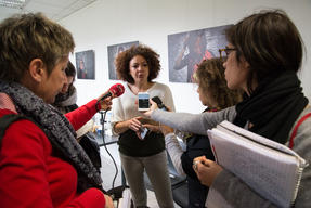 Press conference at the center for unaccompanied minors in Paris
